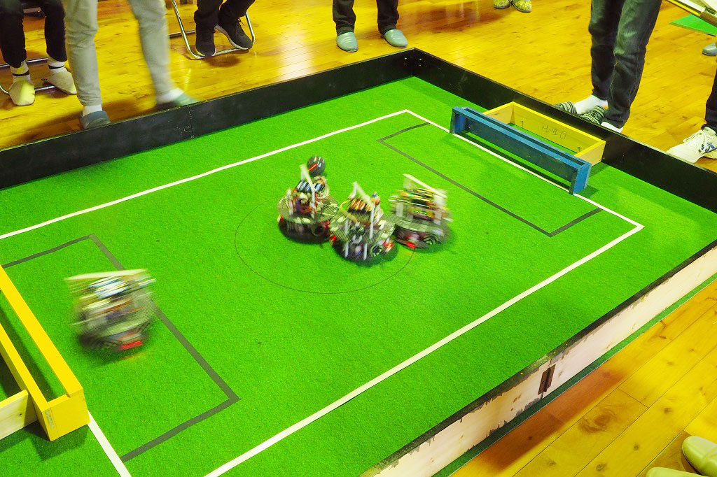 ロボカップ世界大会福島・栃木大会の対戦ゲーム